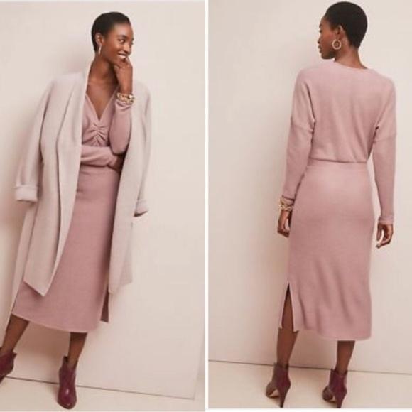 c1f5c88d96e Anthropologie Dresses   Skirts - Eri + Ali Anthropologie Sweater Dress Mauve  V-Neck